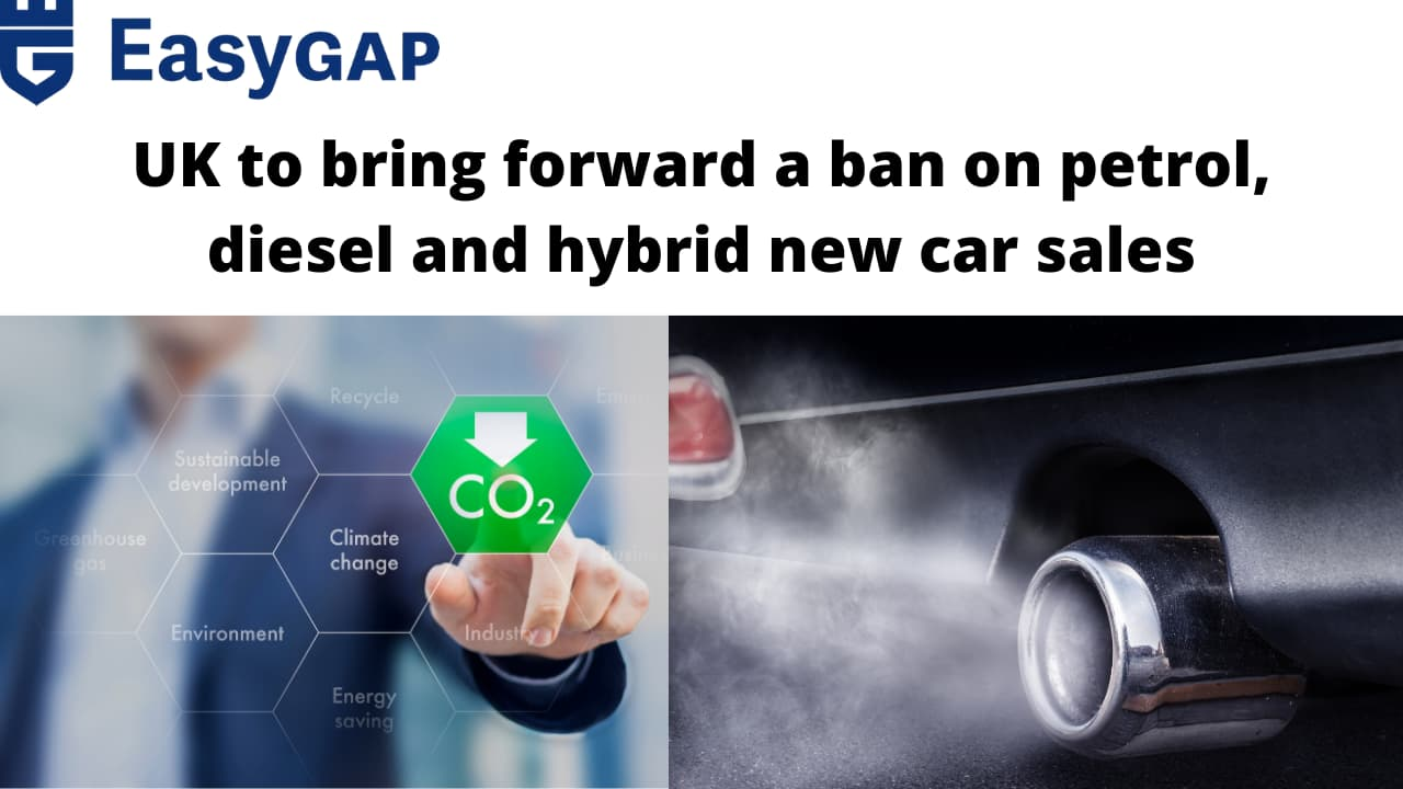 UK ban on petrol, diesel and hybrid new vehicle sales by 2035